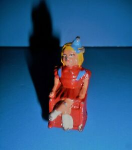 Vtg-Barlclay-Blonde-Girl-in-Red-Rocking-Chair-Lead-Toy-Figure