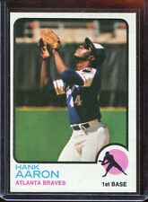 1973  Topps   Baseball    # 100   Hank Aaron   NM-MT  Slight O/C  Sharp Corners
