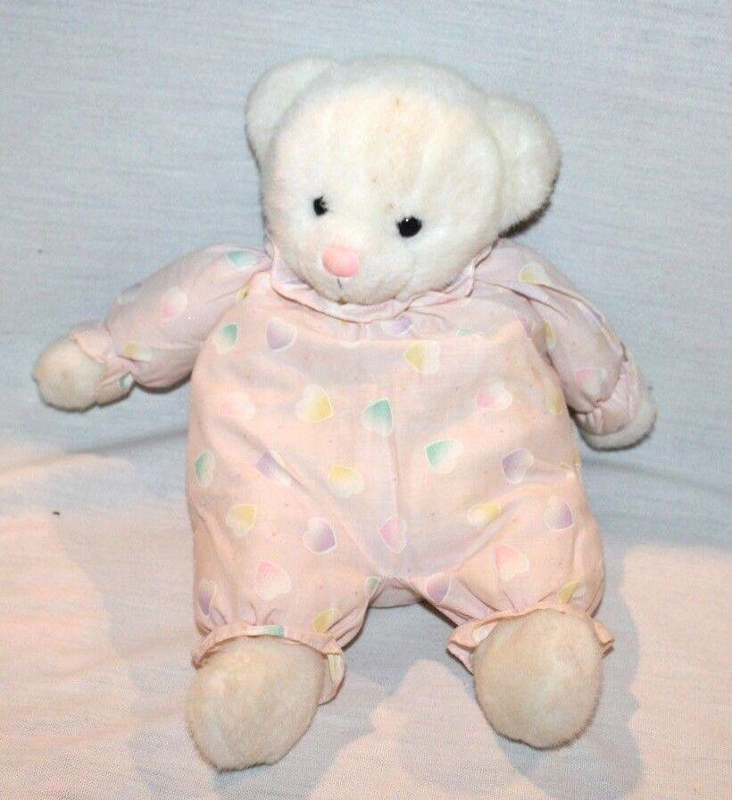 Vintage Prestige Rosa Hearts Plush Bear Pajamas 14