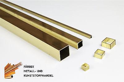 Messing Messing Vierkantrohr 10x10x1 mm //500mm Länge CuZn37 MS63  Rohr
