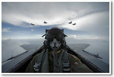 NEW Aviation Jet Fighter Air Force Military POSTER - F15 Pilot Self Portrait