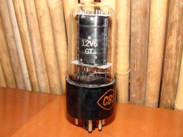 Vintage Cbs 12v6 Blackplate Stereo Tube #8787 645 42 Grote Uitverkoop