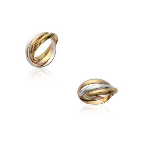 Ring Alliance 3 RINGS tricolor nine gold plated T 62