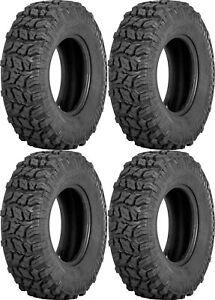 Four 4 Sedona Coyote ATV Tires Set 2 Front 25x8-12 & 2 Rear 25x10-12