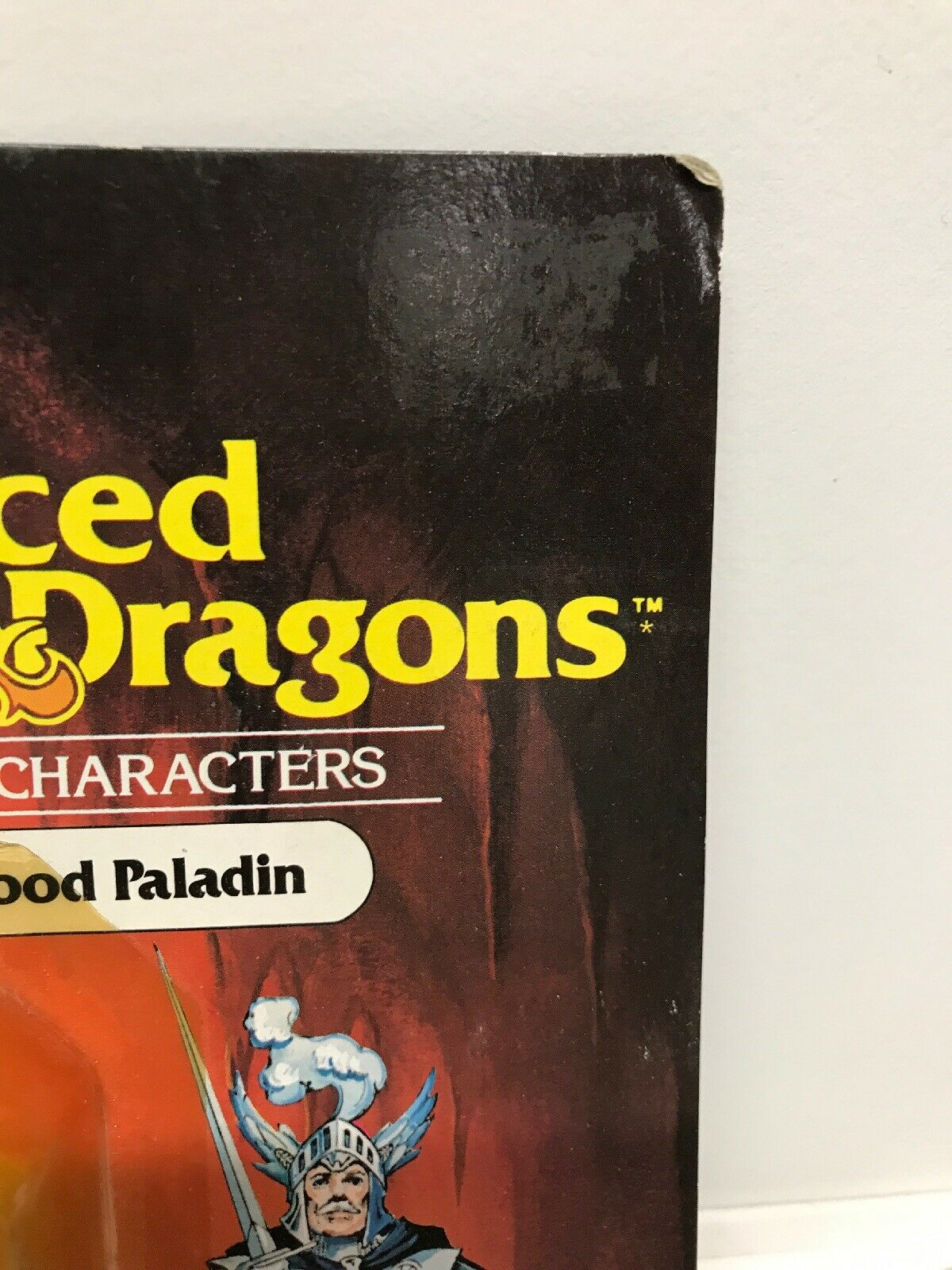 D&D Advanced Advanced Advanced Dungeons & Dragons Strongheart Good Paladin - LJN TSR carded figure 7f84a9