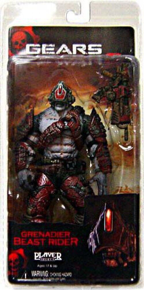NECA Gears of War 2 Grenadier Beast Rider Action Figure