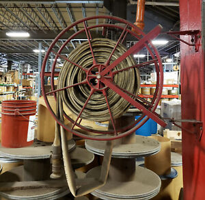 Antique Fire Hose Reel And