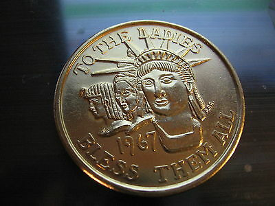 REX mermaid dragon centaur 1975 new orleans mardi gras doubloon alum coin