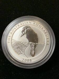 2008 Australian Kookaburra 1 Oz.999 BU 1 dollar coin OGP Fresh from Mint Wrap