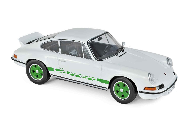 NOREV 187636 PORSCHE 911 RS 1973 Blanc Vert Deco 1 18 Nouveau Neuf dans sa boîte