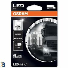 Osram LED T4W 12V 1W BA9s 233 Cool White Interior lighting Festoon 3850CW-02B x2