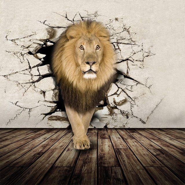 Details about  /3D Cute Lion Elephant 52RAI World Map Wall Stickers Vinyl Wallpaper Murals Honey