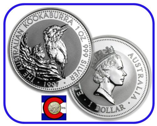 Silver Coin 1997 Australia Kookaburra 1 oz BU direct from Perth Mint roll