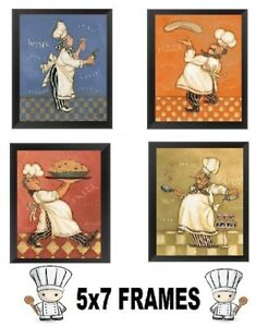 Image Is Loading Fat Chef Pictures 5x7 Wall Hangings Cooking Chefs