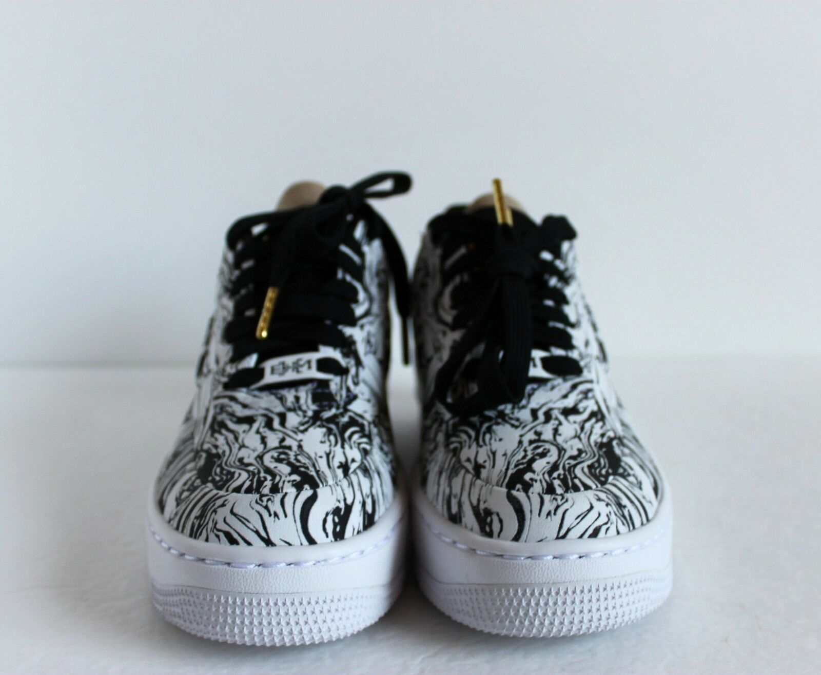 Nike Nike Nike Women AF1 UPSTEP LOW BHM Black History Month White-gold sz 5 [920788-100] a76f3f