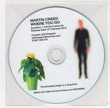 (FC116) Martin Creed, Where You Go - 2012 DJ CD