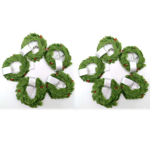 """10pc Fit For 18/""""American Girl Green Wreath Toy Doll Accessory MYAG WINTER CHALET"""
