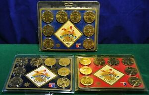 Sport-Stars-Collector-Coins-Series-1-Set-1-2-amp-3-1992-Sealed-NOS
