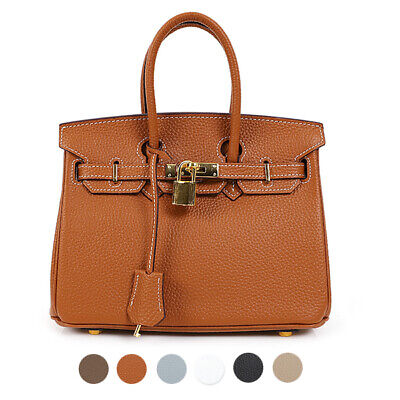 CELEBRITY STYLE RUNWAY 30 BELTED TOTE SHOULDER CROSS REAL TOGO COWHIDE LEATHER