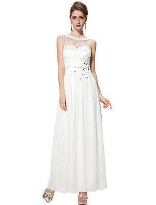 Ever Pretty White Long Simple Designer Wedding Gowns Party Evening Dress 08189