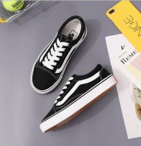 Détails sur Homme Femme VAN Classic OLD SKOOL Low Top Casual Canvas sneakers Shoes chaussure