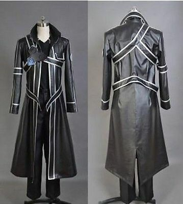 Japanese Anime Sword Art Online Kirito Black Uniform Made Cosplay Costume TS001
