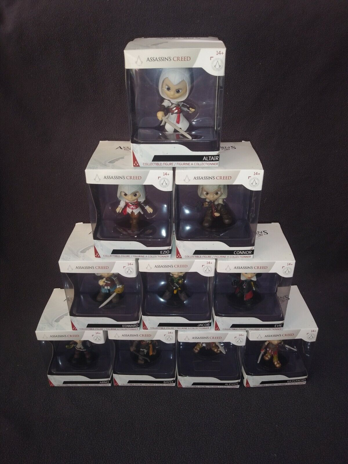 Assassin's Creed GameStop Exclusive Figures 10 Pack Collectible Xtreme Play Rare