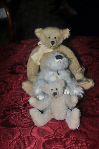 3 COLLECTABLE BEARS 2 Limited Edition