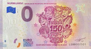 BILLET-0-EURO-NURMIJARVI-7-VELIESTA-150-FINLANDE-2020-NUMERO-DIVERS