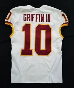 10 Robert Griffin III (QB) of Washington Redskins Nike Game Issued