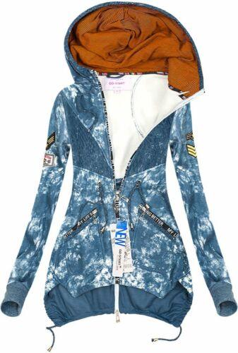 Damen Kapuzenpullover Sweatshirt Pulli Hoodie Pullover Sweatjacke J7717NEU