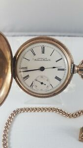 Waltham-pocket-watch-hunter-case-chain-fob-included