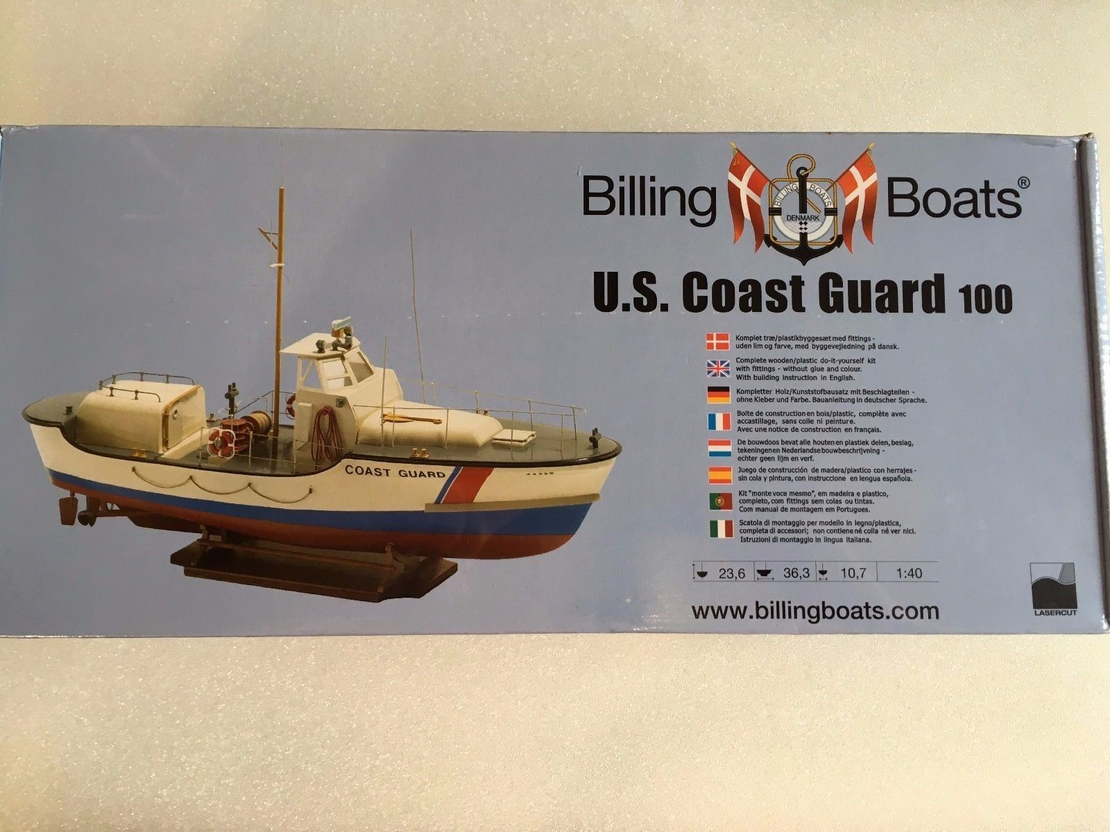 Billing Boats - B 100 - U.S.Coast Guard 100 Model Boat Kit 1 40 Scale T48 Post