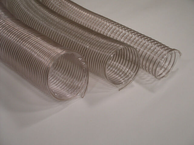 """6"""" x 5' Wire Corrugated Hose Dust Collection Heavy"""