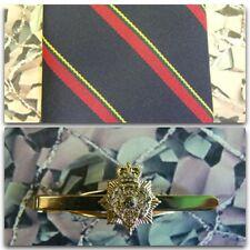 Royal Marines (Stripe) Tie & Tie Bar Set With PITH HELMET Tie Bar RM