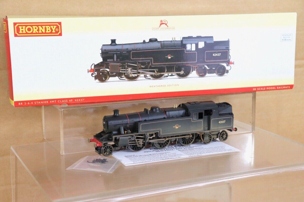 Hornby R2637 DCC Bereit Verwitterte Br 2-6-4 Klasse 4P Tank Lokomotive 42437 NT