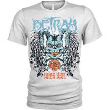 Betray T-Shirt skull cross bones demon skull devil Unisex Mens