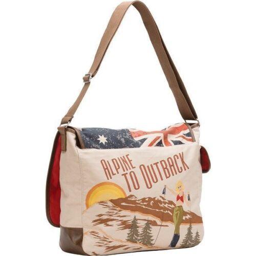 Neve Australia Printed Messenger Bag duffel tote weekend purse NEW $120
