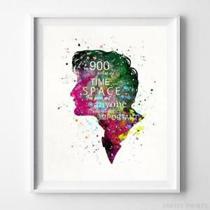 Doctor Who Quote Type 1 Watercolor Poster Home Decor Dorm Decor Print UNFRAMED