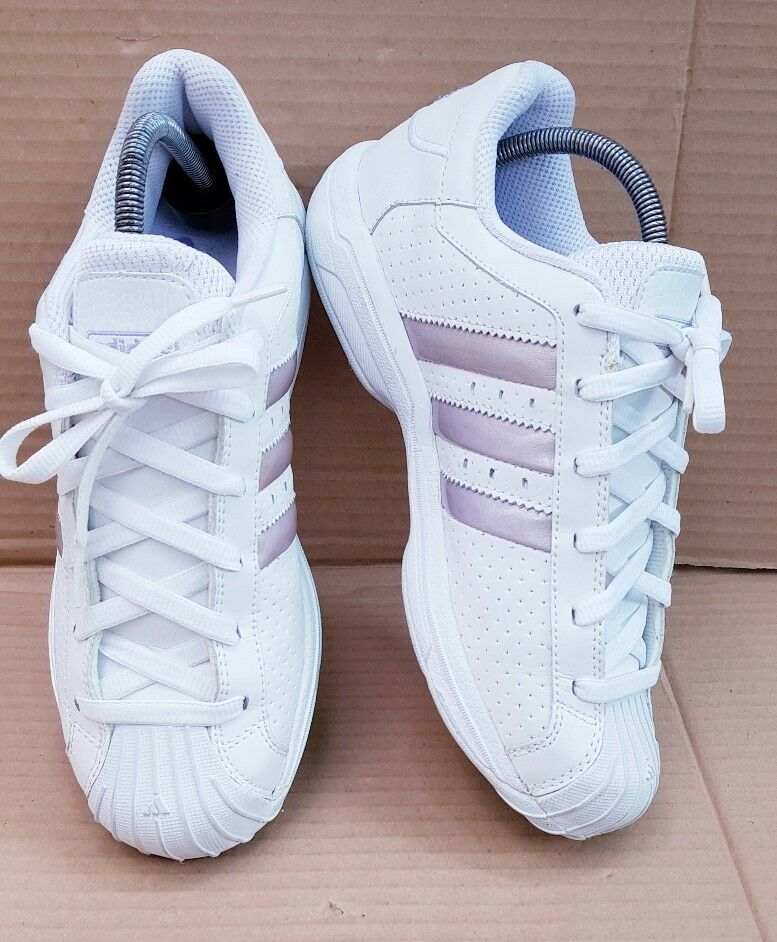 ADIDAS SUPERSTAR SHELL TOE TRAINERS IN SIZE 5.5 UK Weiß  LILAC DEADSTOCK RARE