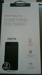 Spigen-Pixel-3-XL-Thin-Fit-2018-Case-black-New-in-Box