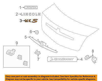 Lincoln FORD OEM 09-16 MKS Trunk Lid-Emblem Badge Nameplate 8A5Z5442528B