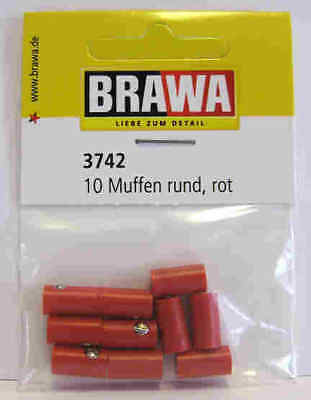 - Brawa 3742 10 pcs NEW RED Sockets for MARKLIN NEW STYLE 1,6 mm