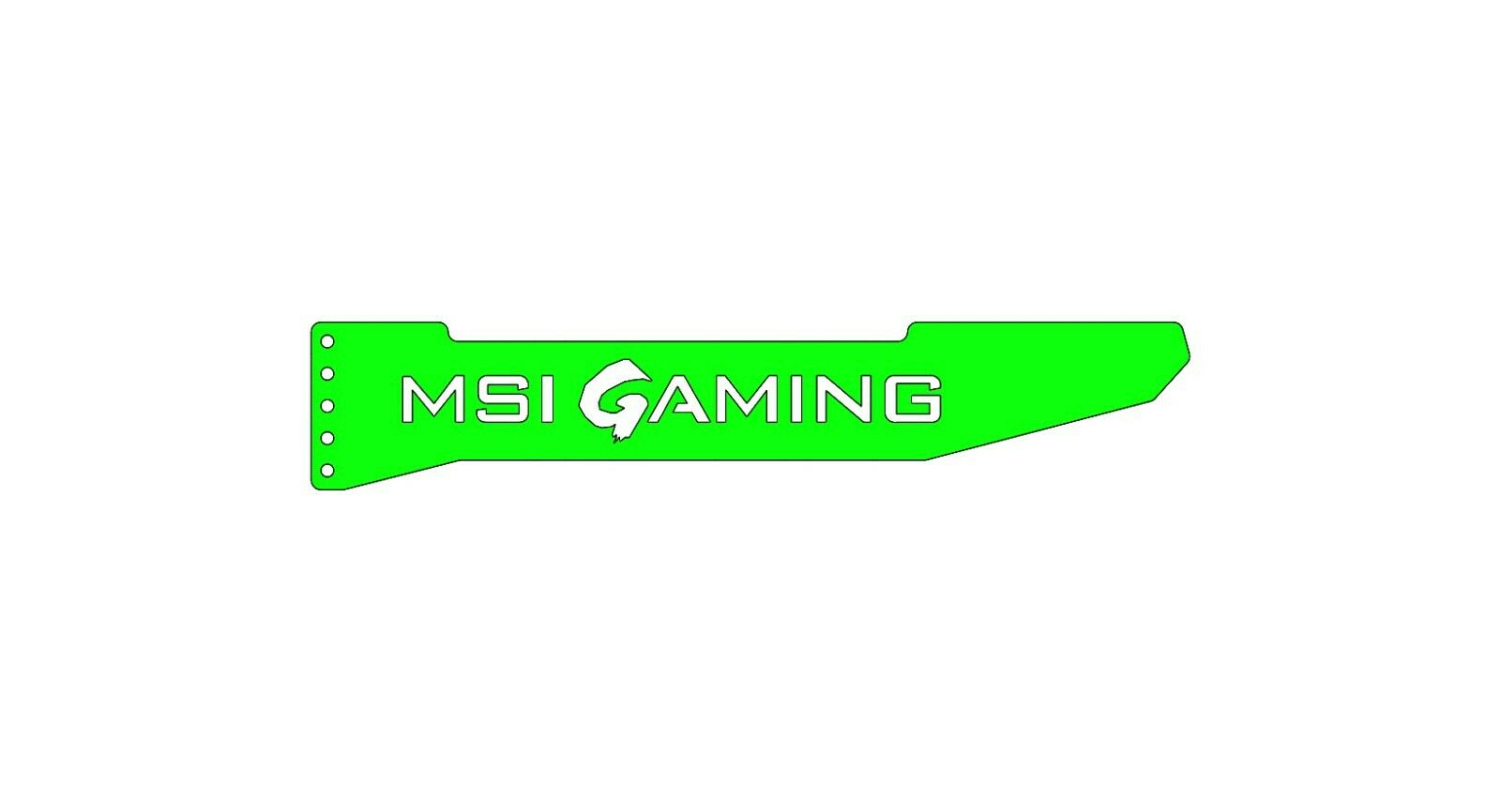 MSI GAMING - ARGB GPU Graphics Card Sag Support Bracket Brace GTX RTX AMD NVIDIA