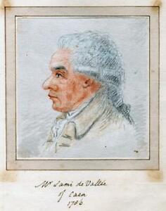 MR-SAMI-de-VALLEE-CAEN-1786-Original-PORTRAIT-PENCIL-DRAWING-France