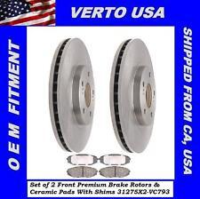 Front Kit Brake Rotors & Pads For Acura MDX 2001-2002, Honda Odyssey 1999- 2004