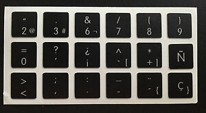 Pegatinas-para-teclado-espanol-Apple-black-Macbook-Spanish-Keyboard-Stickers