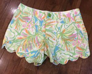 Shorts Sz Rosa Orecchio Lilly Buttercup 2 Elefante Bordo smerlato Verde Pulitzer wEqzRg