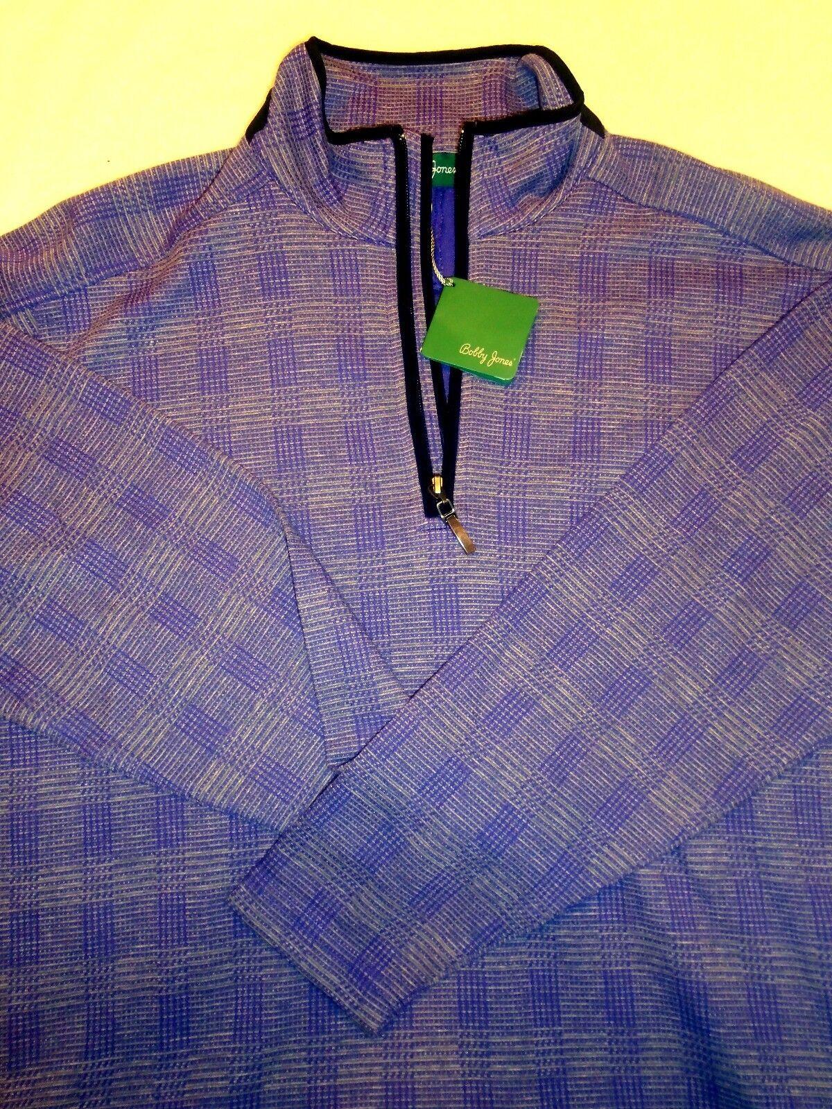 Bobby Jones 12 Zip Purple Amherst Plaid Pattern Pullover Medium Ebay