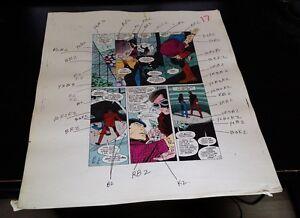 NEW GUARDIANS 5 PAGE 15 COLOR GUIDE-ORIGINAL ART-JOE STATON